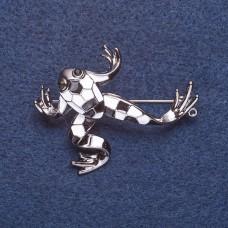 Брошь Лягушка с эмалью 8131