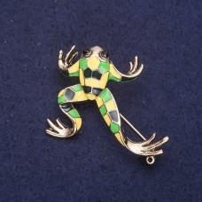 Брошь Лягушка с цветной эмалью 8136