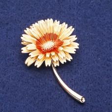 Брошь Цветок желтый 8293