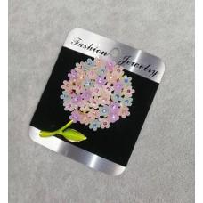 Брошь Цветок Гортензия 8307