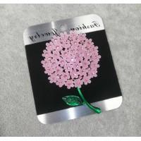 Брошь Цветок Гортензия розовая 8308