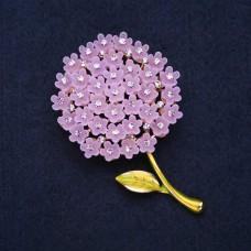 Брошь Цветок Гортензия сиреневая 8309